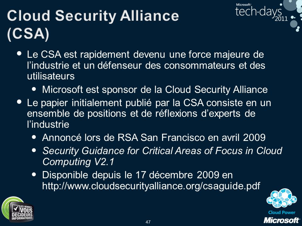 Cloud Security Alliance (CSA)