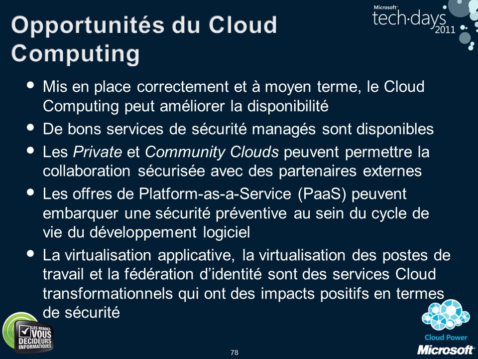 Opportunités du Cloud Computing