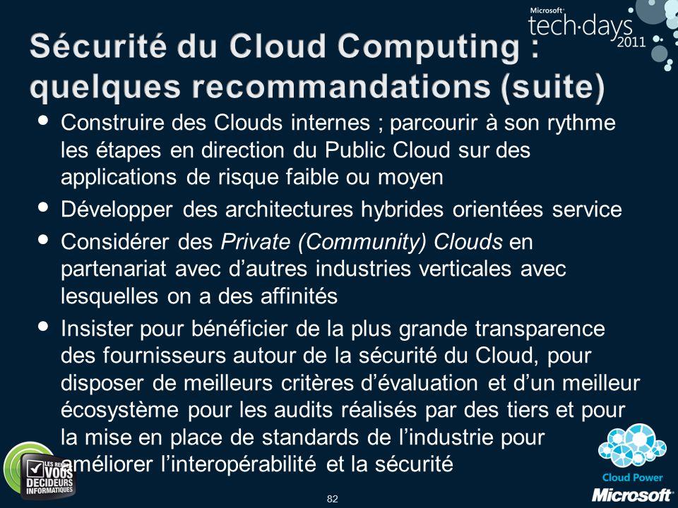 Sécurité du Cloud Computing : quelques recommandations (suite)