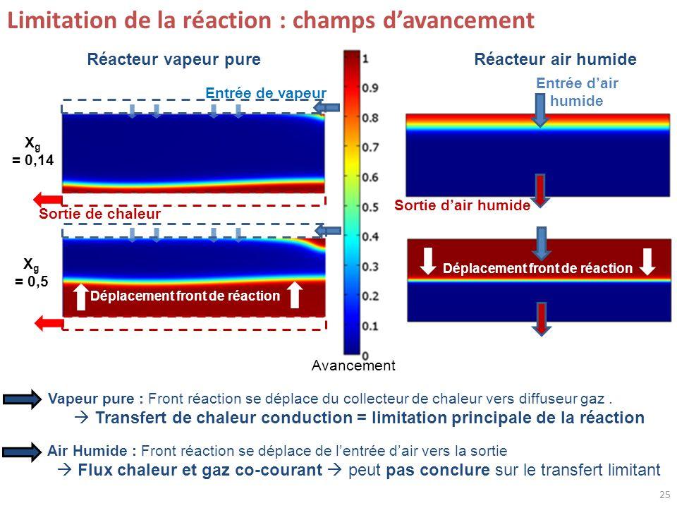 Limitation de la réaction : champs d'avancement