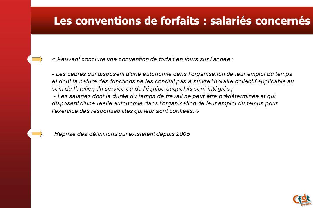 Les conventions de forfaits : salariés concernés