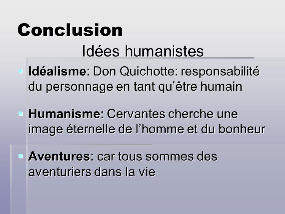 Conclusion Idées humanistes