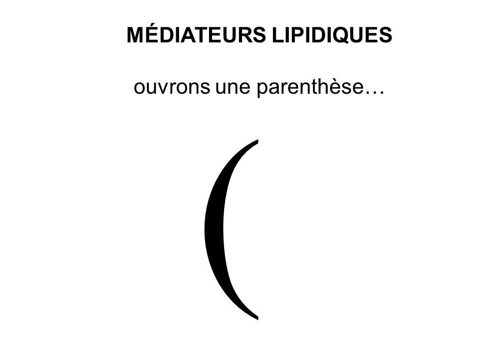 MÉDIATEURS LIPIDIQUES