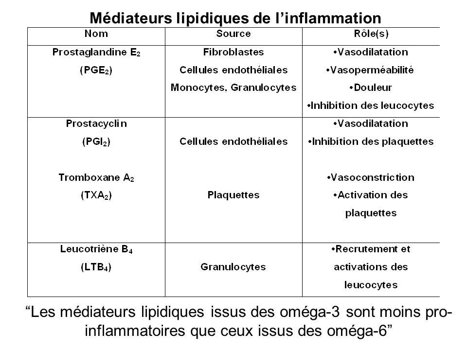 Médiateurs lipidiques de l'inflammation