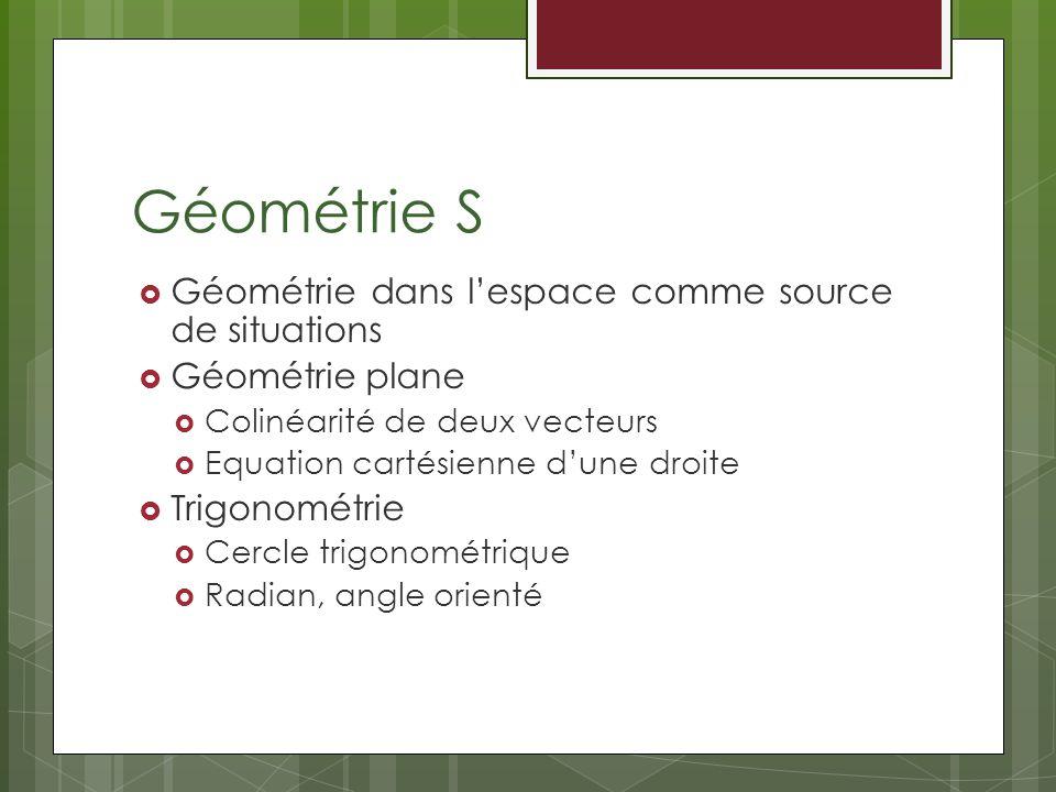 Géométrie S Géométrie dans l'espace comme source de situations