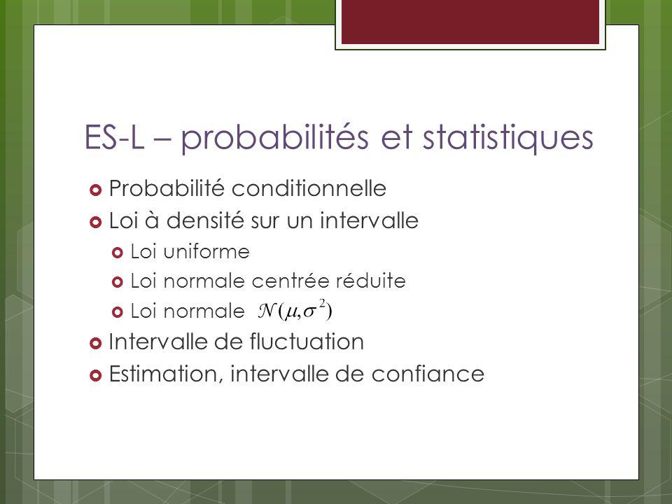 ES-L – probabilités et statistiques