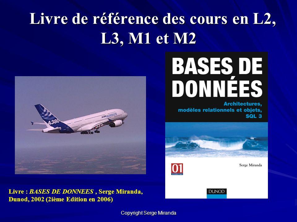 Livre de référence des cours en L2, L3, M1 et M2