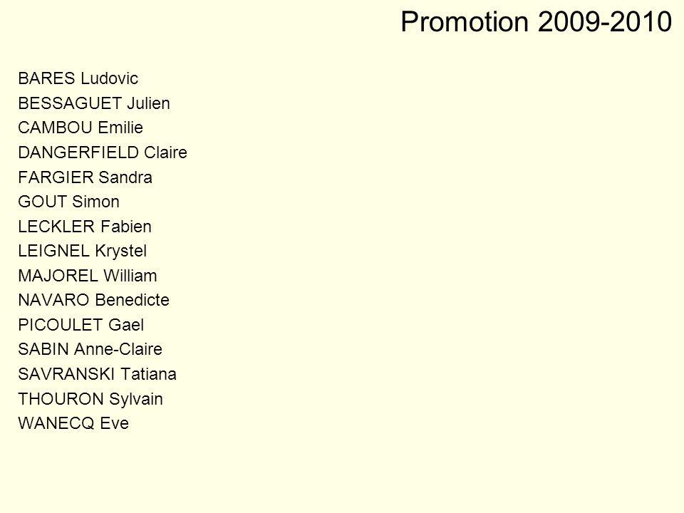 Promotion 2009-2010