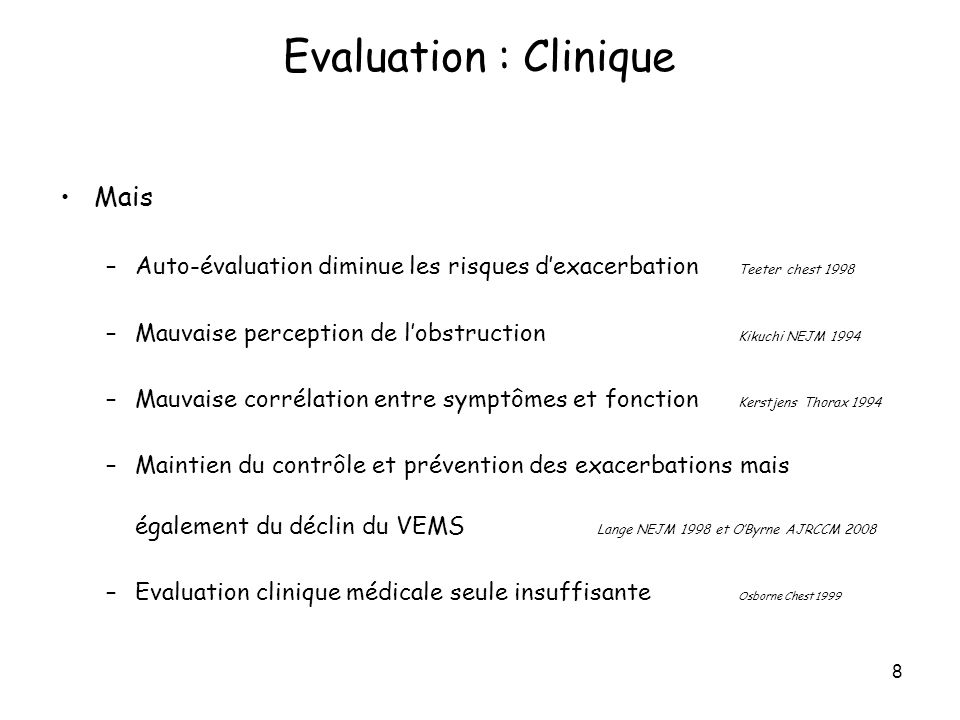Evaluation : Clinique Mais