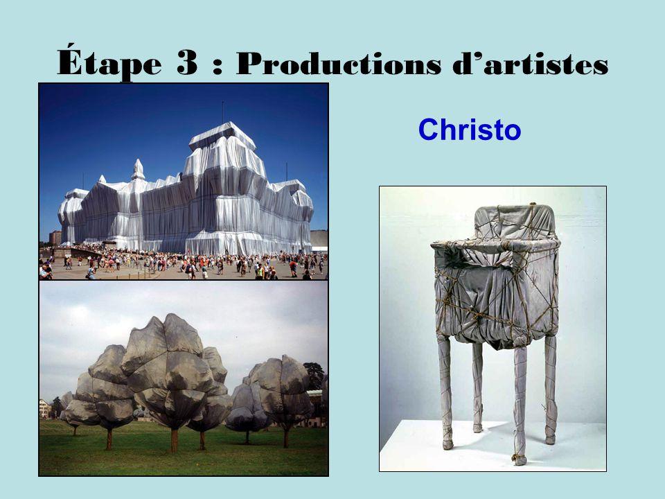 Étape 3 : Productions d'artistes