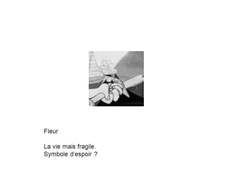 Fleur La vie mais fragile. Symbole d'espoir