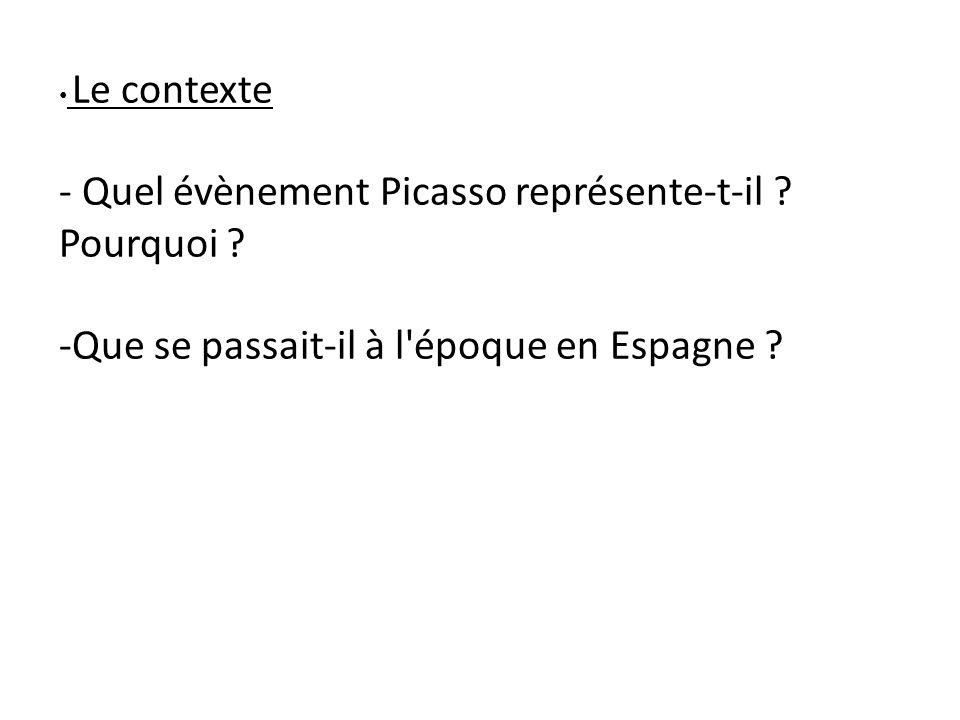 - Quel évènement Picasso représente-t-il Pourquoi