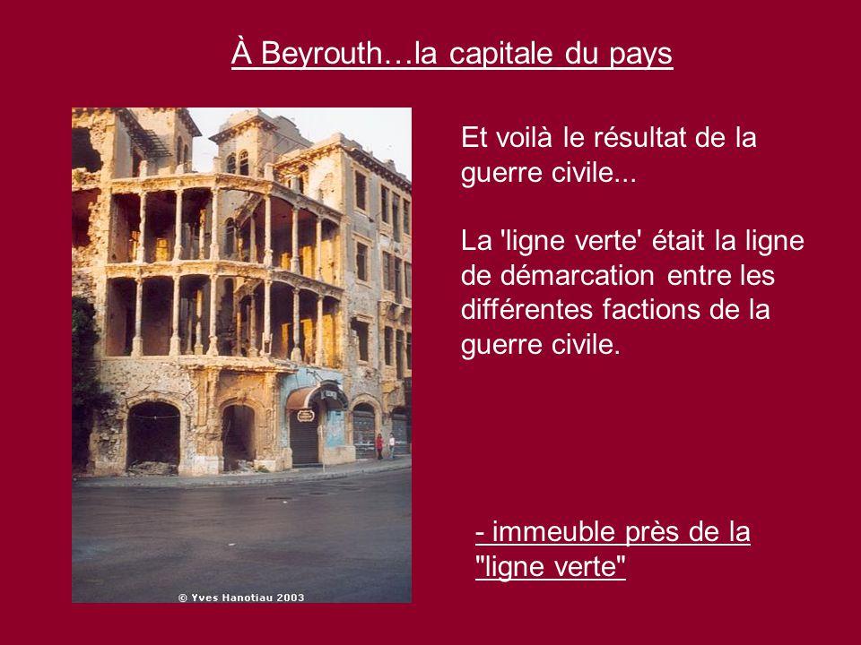 À Beyrouth…la capitale du pays