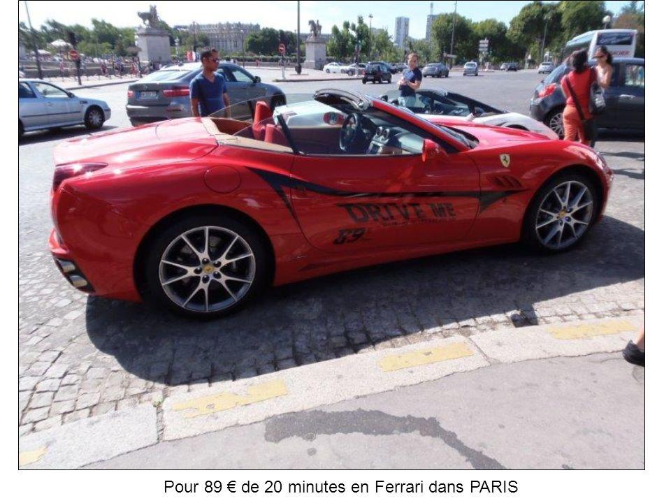 Pour 89 € de 20 minutes en Ferrari dans PARIS
