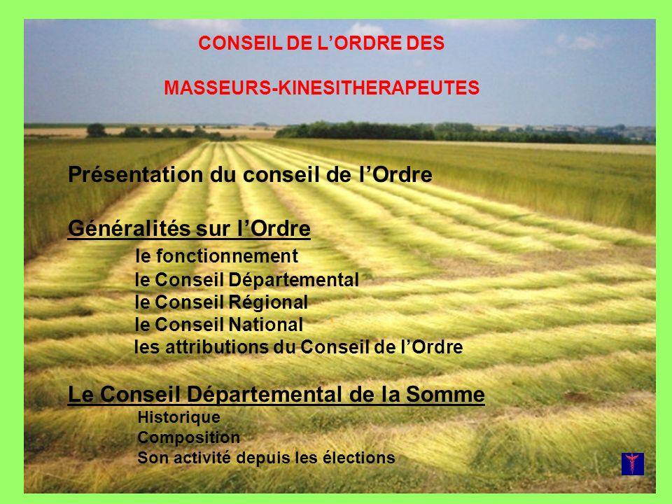 CONSEIL DE L'ORDRE DES MASSEURS-KINESITHERAPEUTES