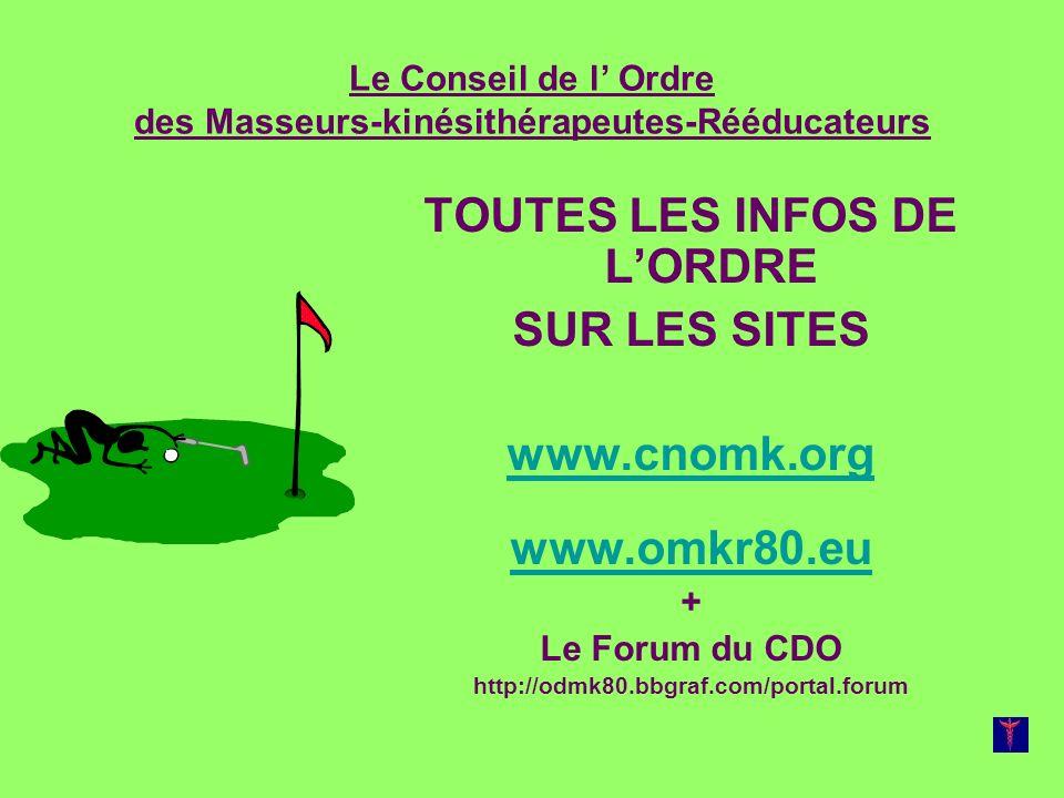 Le Conseil de l' Ordre des Masseurs-kinésithérapeutes-Rééducateurs