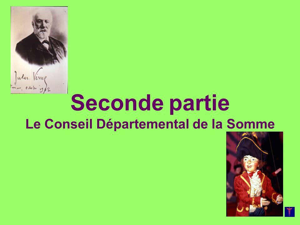 Seconde partie Le Conseil Départemental de la Somme