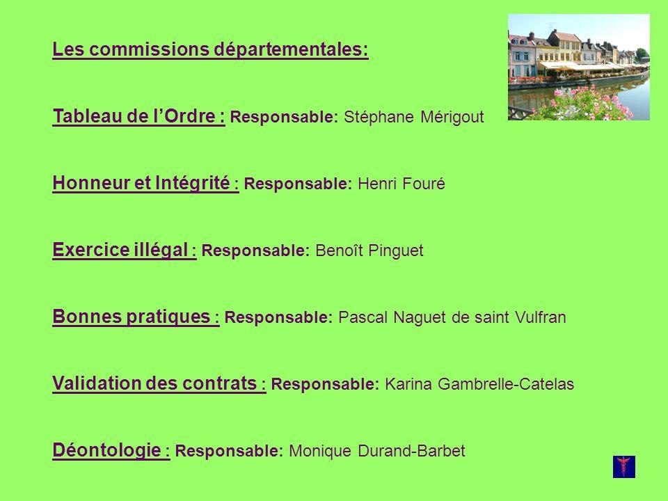 Les commissions départementales: