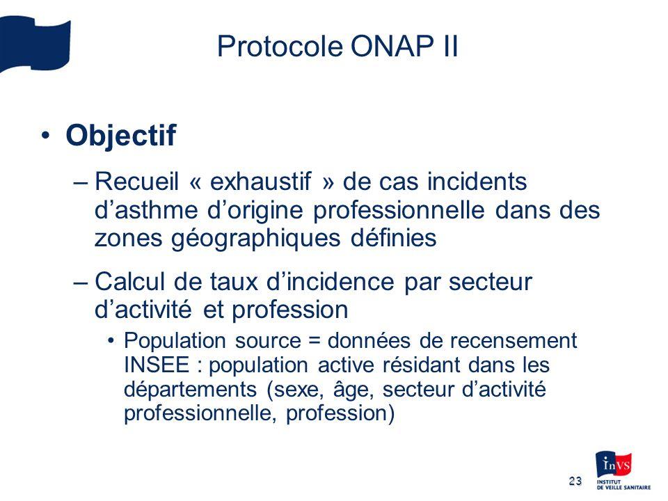 Protocole ONAP II Objectif