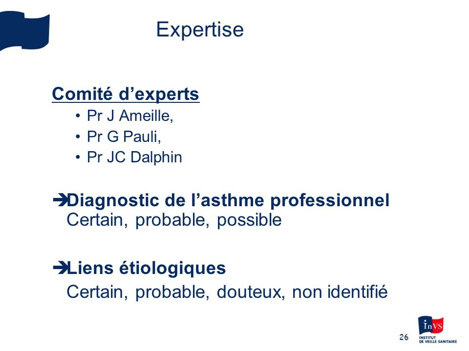 Expertise Comité d'experts