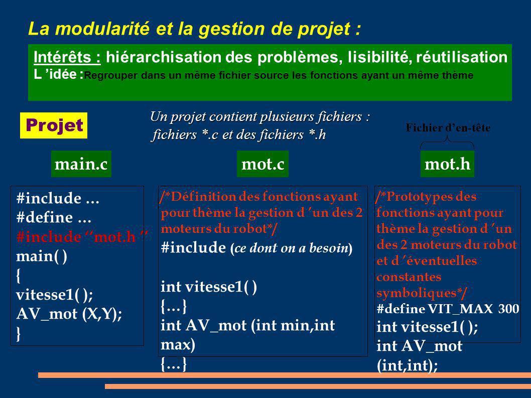La modularité et la gestion de projet :
