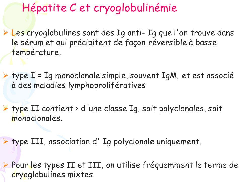 Hépatite C et cryoglobulinémie