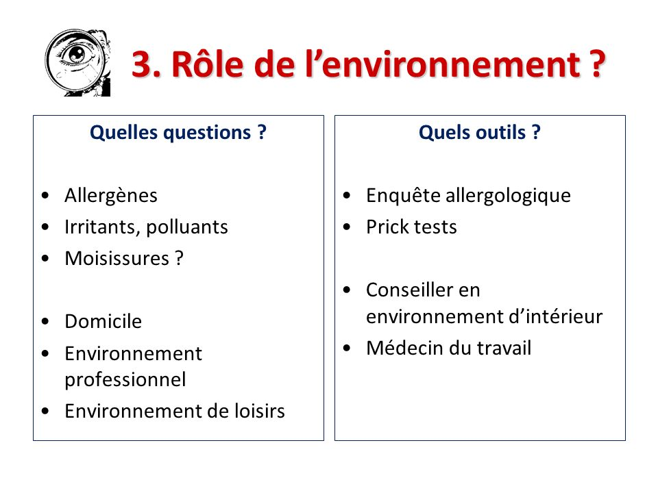 3. Rôle de l'environnement