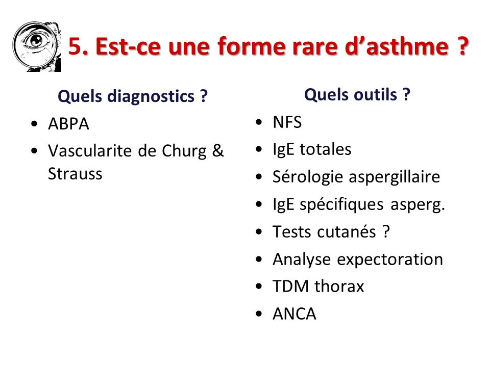 5. Est-ce une forme rare d'asthme