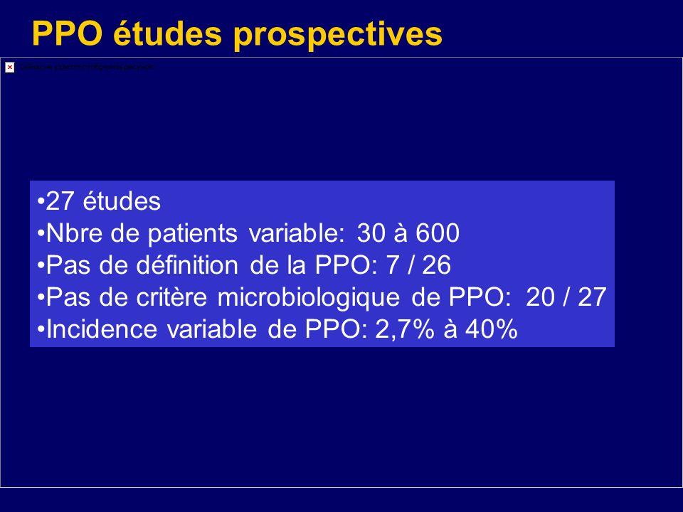 PPO études prospectives