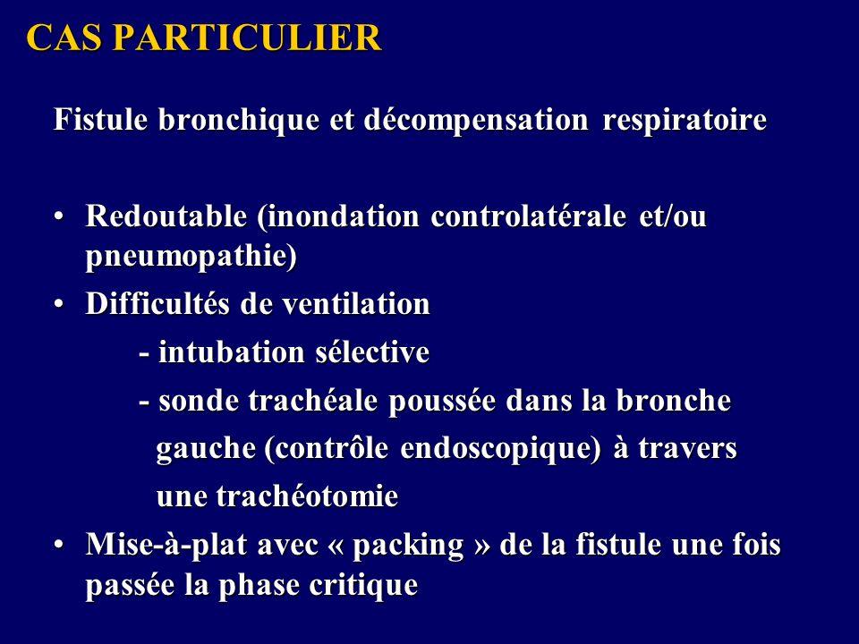 CAS PARTICULIER Fistule bronchique et décompensation respiratoire
