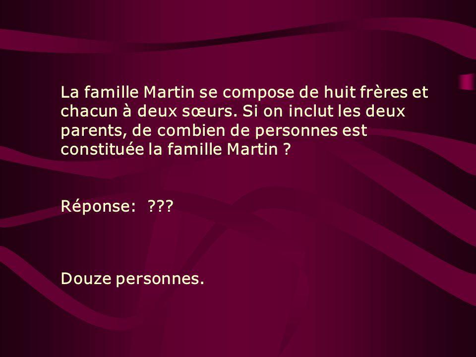 La famille Martin se compose de huit frères et chacun à deux sœurs
