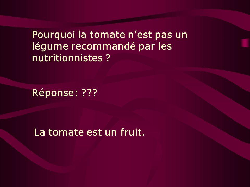 Pourquoi la tomate n'est pas un légume recommandé par les nutritionnistes