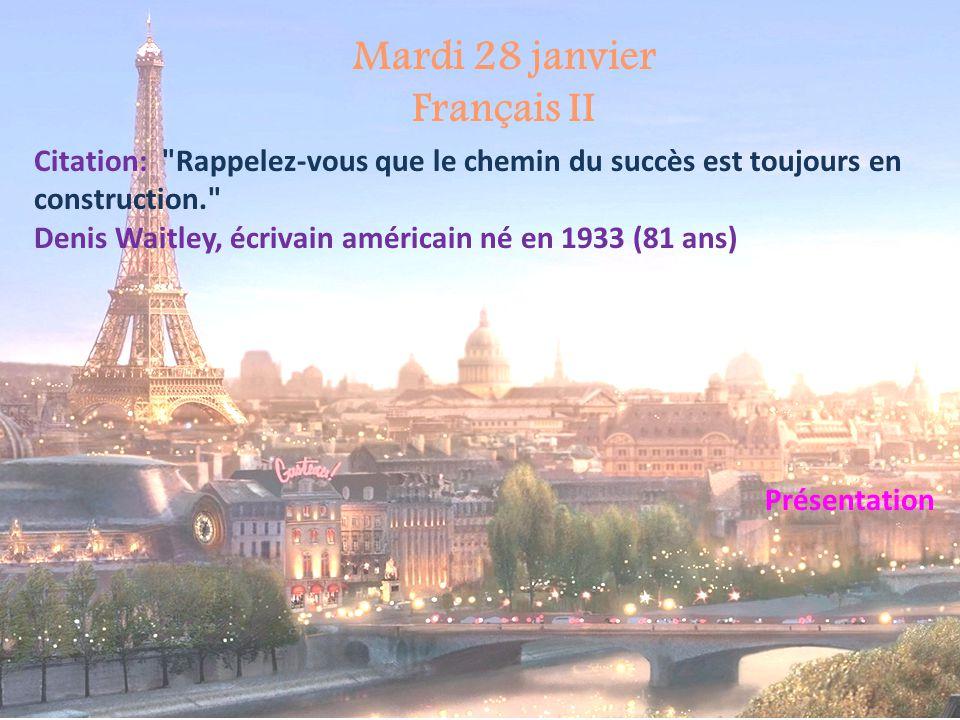 Mardi 28 janvier Français II
