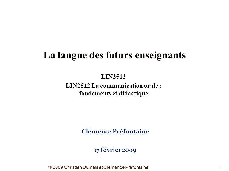 La langue des futurs enseignants