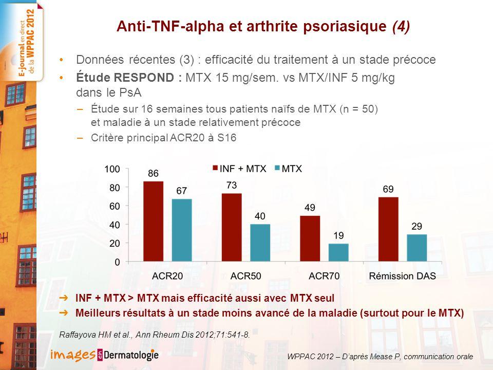 Anti-TNF-alpha et arthrite psoriasique (4)