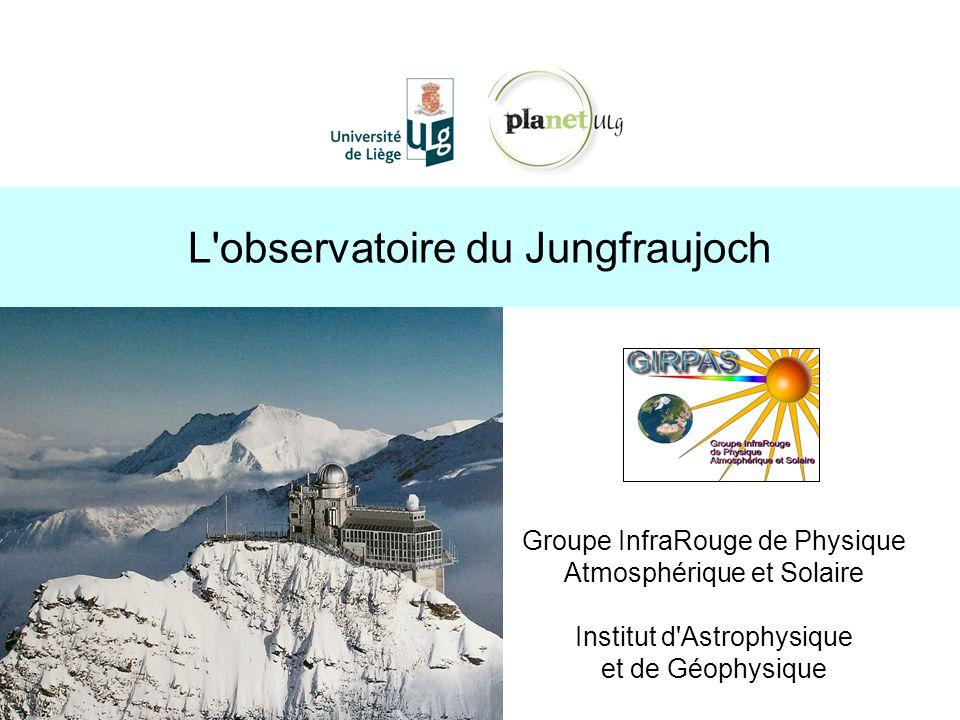 L observatoire du Jungfraujoch