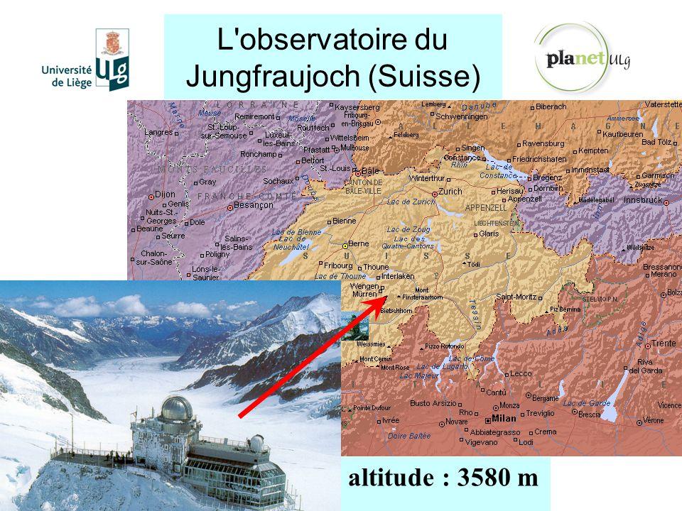 L observatoire du Jungfraujoch (Suisse)