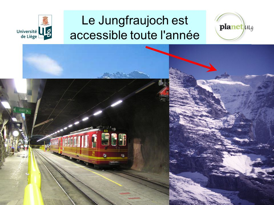 Le Jungfraujoch est accessible toute l année