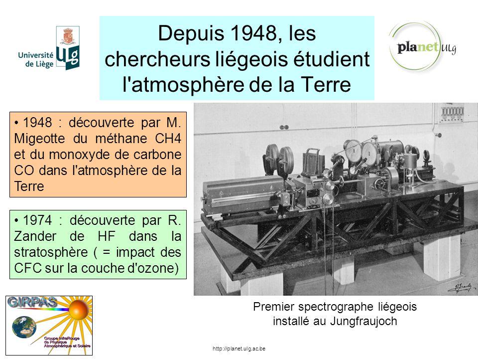 Depuis 1948, les chercheurs liégeois étudient l atmosphère de la Terre