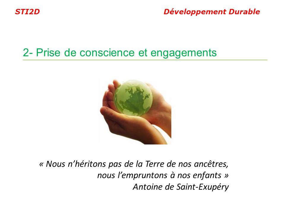 2- Prise de conscience et engagements