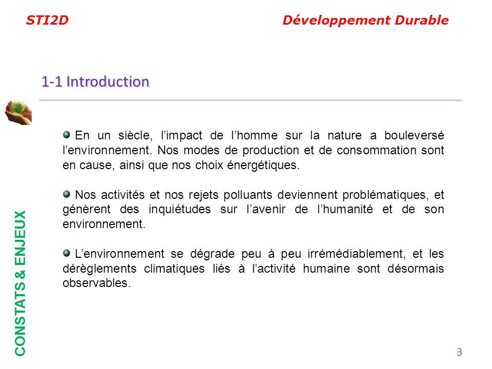 1-1 Introduction CONSTATS & ENJEUX