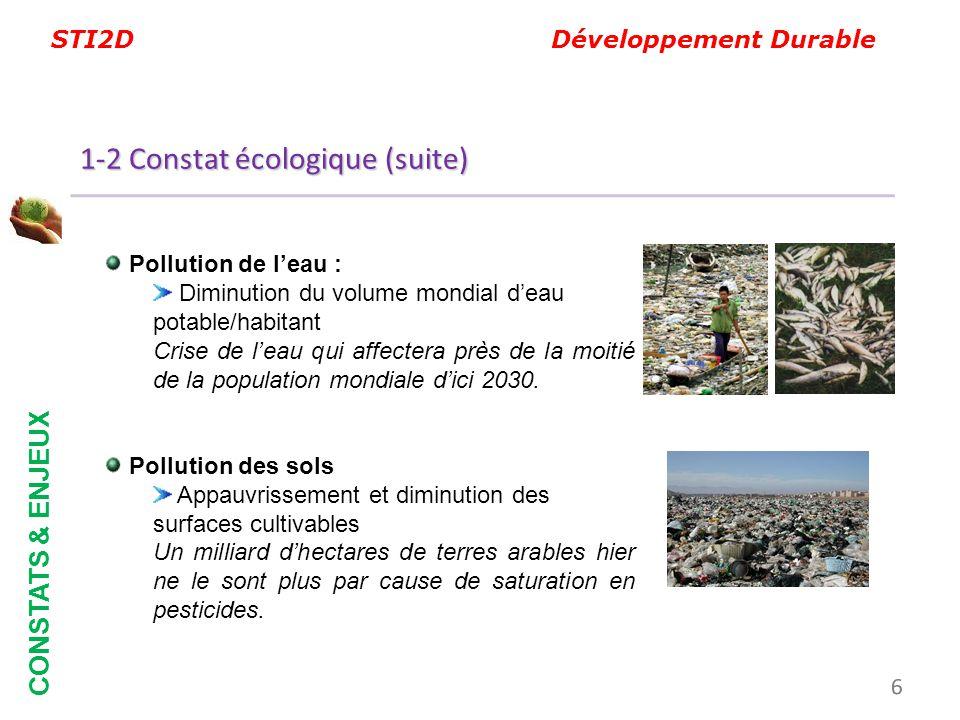 1-2 Constat écologique (suite)