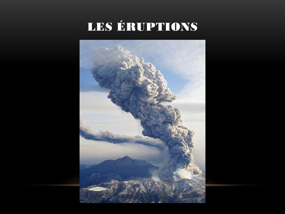 Les éruptions Les éruptions