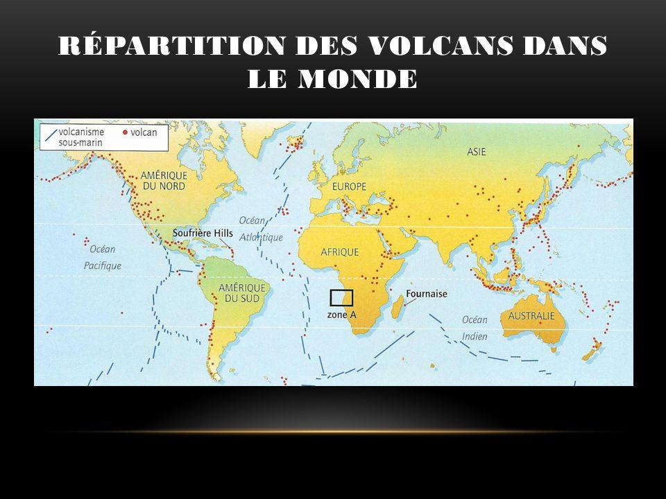 Répartition des volcans dans le monde