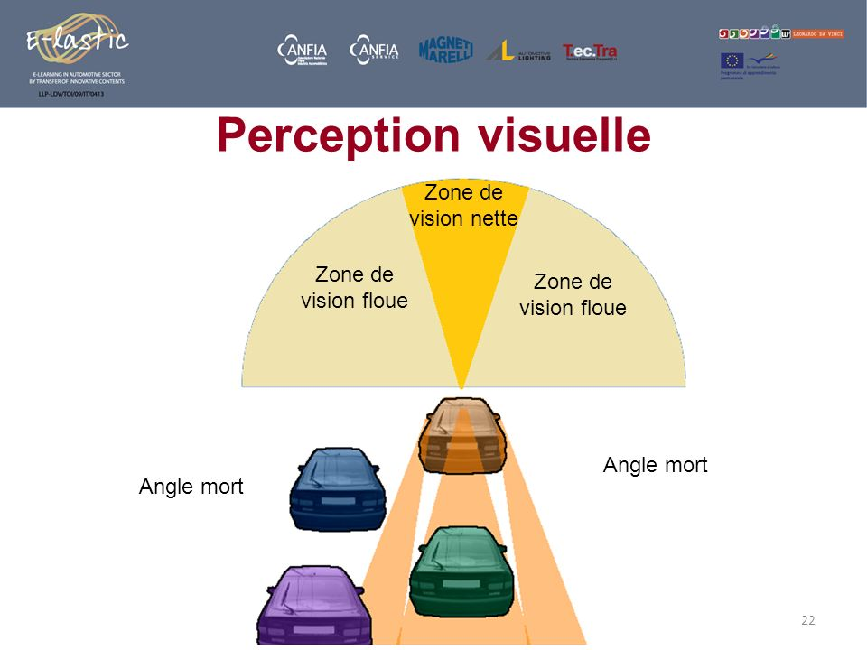 Perception visuelle Zone de vision nette Zone de vision floue