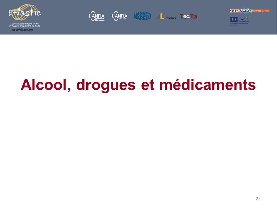 Alcool, drogues et médicaments