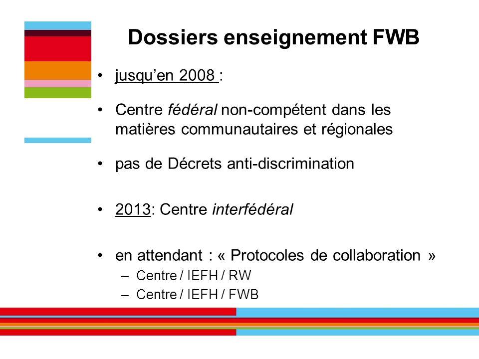 Dossiers enseignement FWB