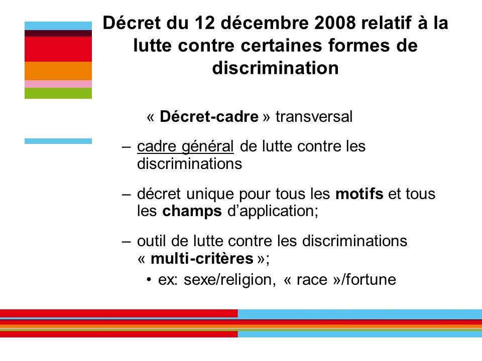 Décret du 12 décembre 2008 relatif à la lutte contre certaines formes de discrimination