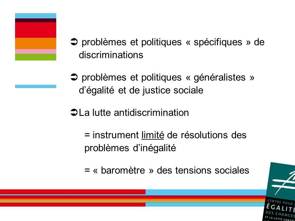 problèmes et politiques « spécifiques » de discriminations