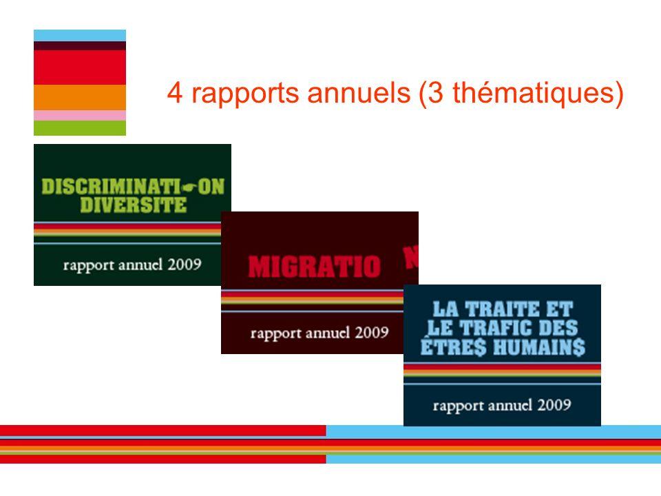 4 rapports annuels (3 thématiques)